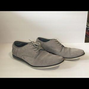 Men's 10.5 Calvin Klein Kadon Gray Suede Shoes